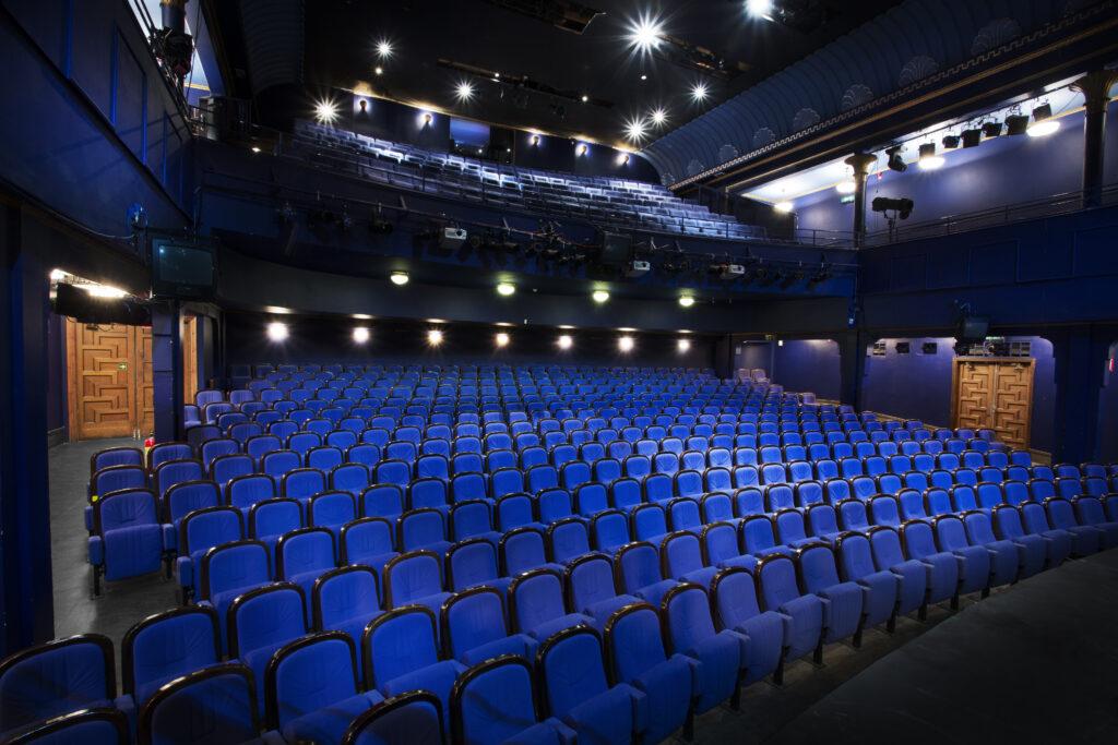 Den blå salongen på Folkoperan.
