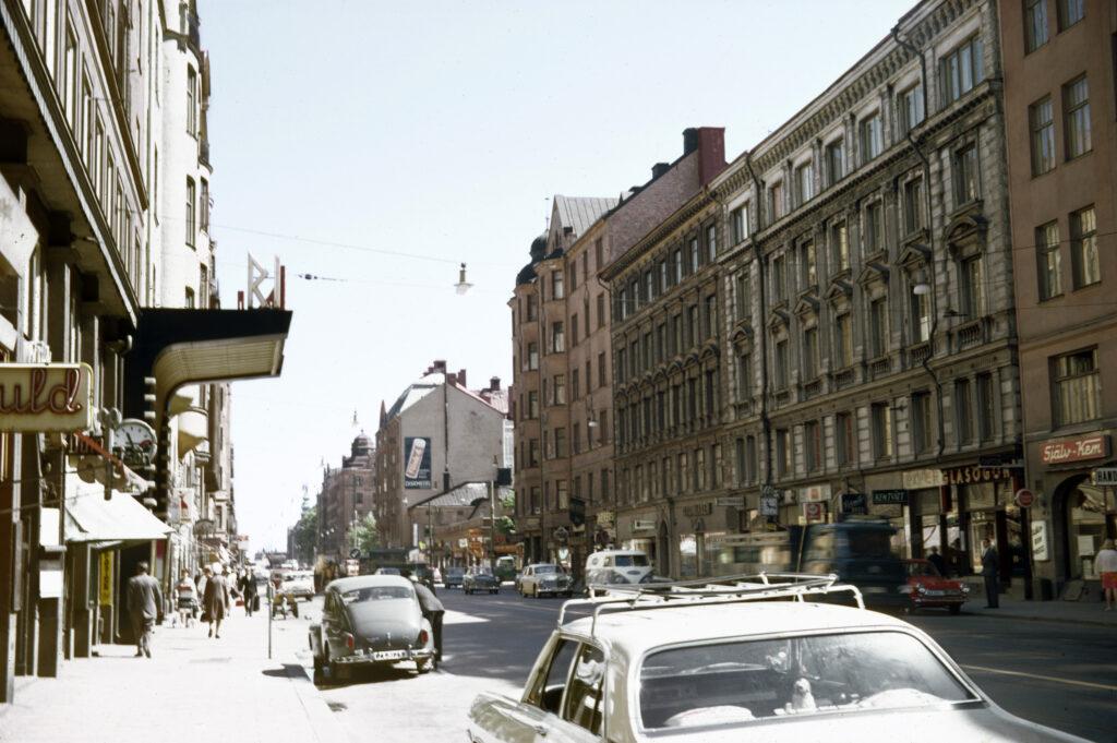 Miljöbild av Hornsgatan 1967, Folkoperan var en biograf.